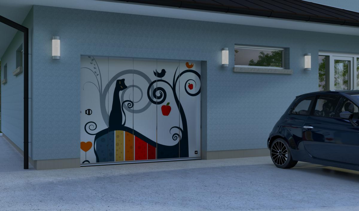 Porte de garage lat rale porte de garage lat rale diane for Porte de garage sectionnelle javey