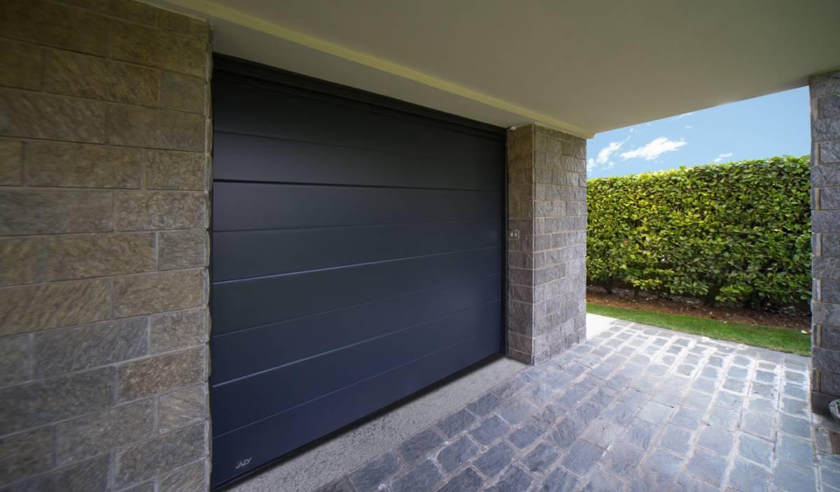 Venus by javey porte de garage sectionnelle en acier isol e haut de gamme - Porte de garage noire ...