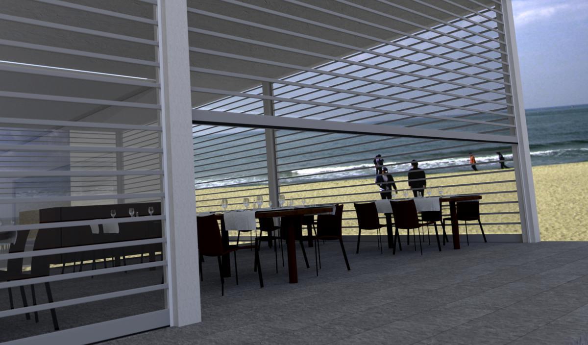 Rideau metallique gamme compl te de rideaux et grilles - Rideau roulant terrasse ...