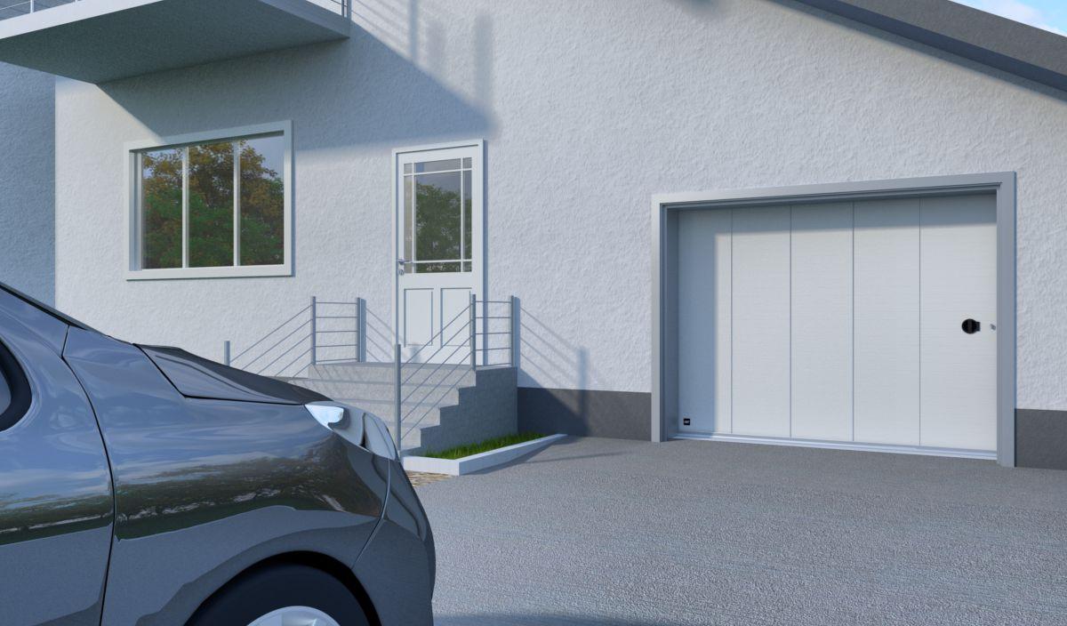 Diane by javey porte de garage lat rale en acier haut de for Porte de garage sectionnelle haut de gamme